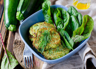Zucchini and onion fritters