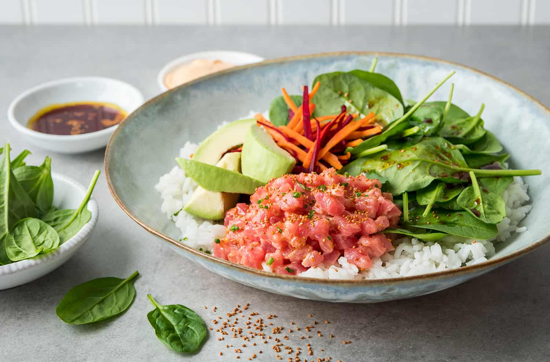 Tuna, Spinach & Cameline Poke Bowl